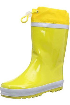 Playshoes Playshoes Kinder Gummistiefel aus Naturkautschuk, warme Unisex Regenstiefel mit Innenfutter, Gelb (gelb 12)