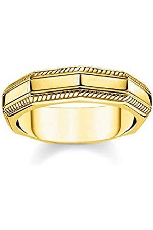 Thomas Sabo Thomas Sabo Unisex-Ring Eckig 925 Sterlingsilber gelbgold vergoldet TR2276-413-39-68