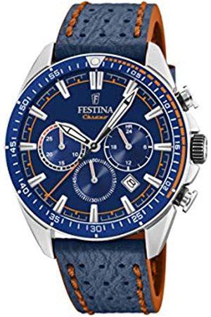 Festina Festina Herren Chronograph Quarz Uhr mit Leder Armband F20377/2