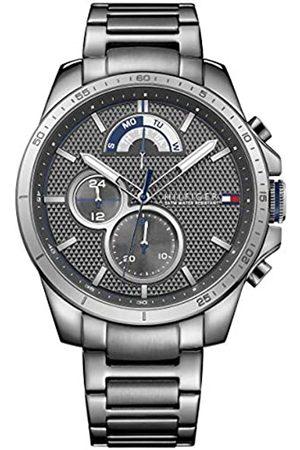 Tommy Hilfiger Tommy Hilfiger Herren Analog Quarz Uhr mit Edelstahl beschichtet Armband 1791347