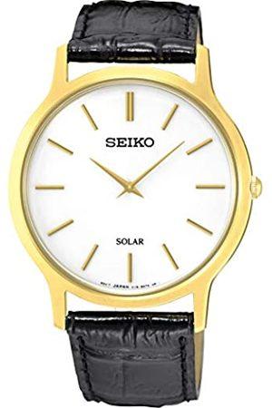 Seiko Seiko Damen Analog Quarz Uhr mit Leder Armband SUP872P1