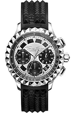 Thomas Sabo Thomas Sabo Herren Analog Quarz Uhr mit Kautschuk Armband WA0357-214-201-43 mm