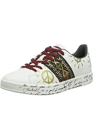 Desigual Damen Shoes Cosmic Exotic Sneaker, (White 1000)