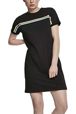 Urban classics Urban Classics Damen Kleid Ladies Multicolor Taped Terry Dress, Schwarz