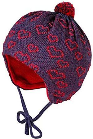 maximo Maximo Baby-Mädchen mit Pompon und Bindeband und Herzchenstruktur Mütze