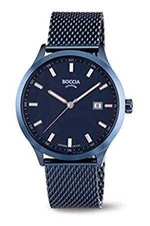 Boccia Boccia Herren Analog Quarz Uhr mit Edelstahl Armband 3614-05