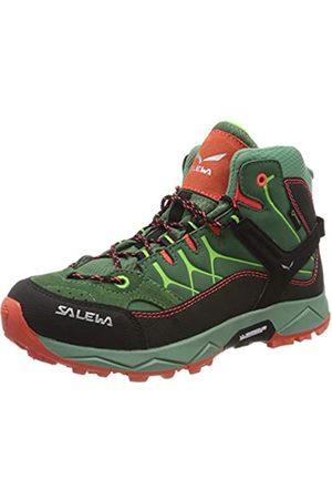 Salewa JR Alp Trainer Mid Gore-TEX Trekking- & Wanderstiefel, Myrtle/Tender Shot