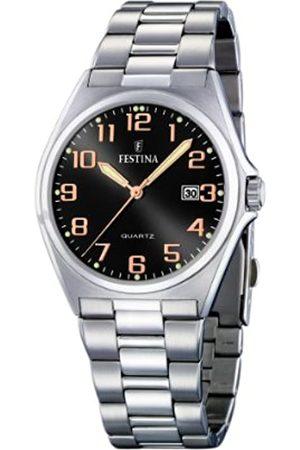 Festina Festina Herren Analog Quarz Uhr mit Edelstahl Armband F16374/8