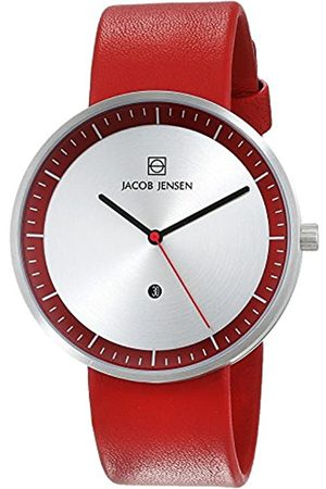 Jacob Jensen Jacob Jensen Unisex Analog Quarz Uhr mit Leder Armband 32273