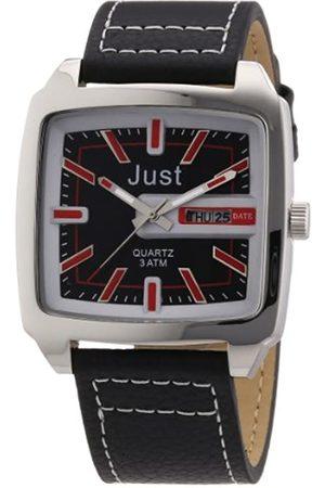 Just Watches Just Watches Herren-Armbanduhr Analog Quarz Leder 48-S3726-RD