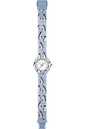 Hip Armbanduhr HIP HOP Frau Animals Addicted quadrante Weiss e uhrarmband in silikon blau