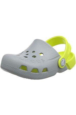 Crocs Crocs Unisex-Kinder Electro Kids Clog, Grau (Light/Citrus 06t)