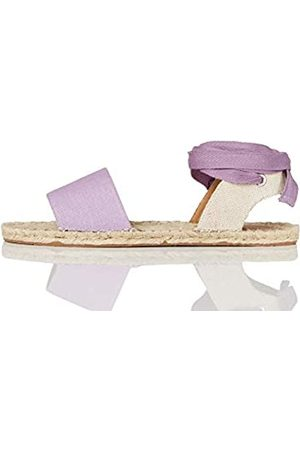 FIND FIND Tie Up Flat Espadrilles, Pink (Lilac)
