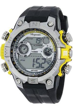Burgmeister Burgmeister Armbanduhr für Herren mit Digital Anzeige, Quarz-Uhr und Silikonarmband, Wasserdichte mit zeitlosem, schickem Design - klassische