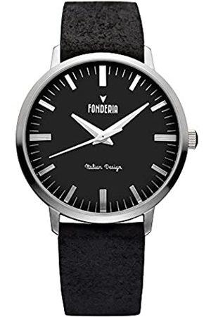 Fonderia Fonderia Herren Analog Quarz Smart Watch Armbanduhr mit Leder Armband
