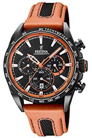 Festina Festina Unisex Erwachsene Chronograph Quarz Smart Watch Armbanduhr mit Leder Armband F20351/5
