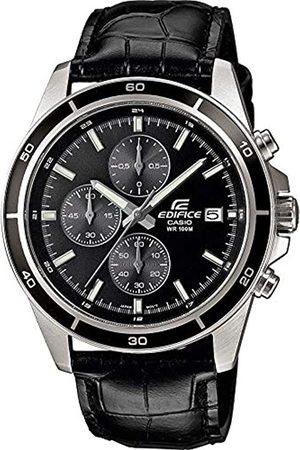 Casio Casio Edifice Herren Massives Edelstahlgehäuse und Lederarmband Uhrenarmband EFR-526L-1AVUEF