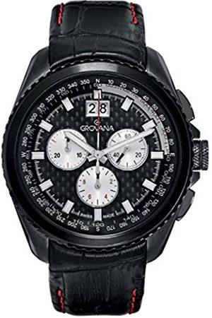 Grovana Grovana Herren-Quarzuhr 1621.9577 Schweizer Uhr mitem Zifferblatt Chronograph-Anzeige undes Lederband