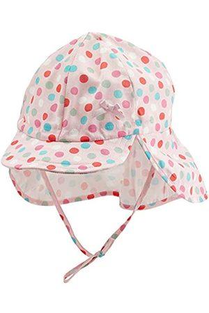 Döll Mädchen Bindemütze mit Schirm und Nackenschutz Kappe 