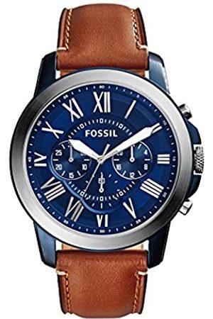 Fossil Fossil Herren Chronograph Quarz Uhr mit Leder Armband FS5151