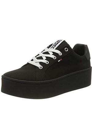 Tommy Hilfiger Tommy Jeans Damen Flatform Sneaker, Schwarz (Black Bds)