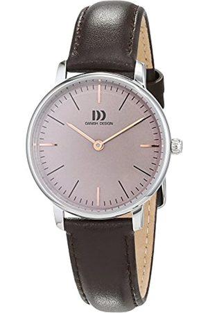 Danish Design Damen Analog Quarz Uhr mit Leder Armband 3324604