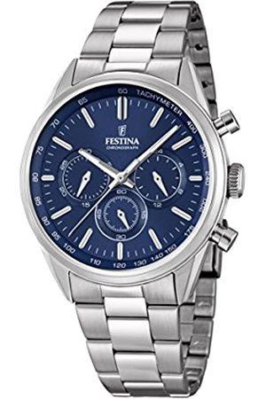 Festina Festina Herren Chronograph Quarz Uhr mit Edelstahl Armband F16820/2