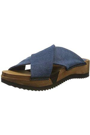 Sanita Sanita Damen Tilka Sport Flex Sandale Pantoletten, Blau (Denim 5)