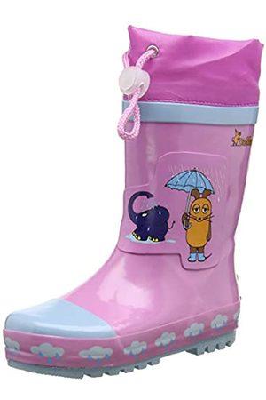Playshoes Playshoes Kinder Gummistiefel aus Naturkautschuk, trendige Unisex Regenstiefel mit Reflektoren, Pink