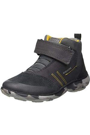 Geox Jungen J Nebula Boy B Hohe Sneaker, (Grey/Yellow C0240)