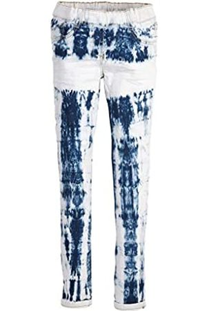 s.Oliver S.Oliver RED LABEL Mädchen Slim Fit: Skinny leg-Jeans in Batik-Optik blue 176.REG