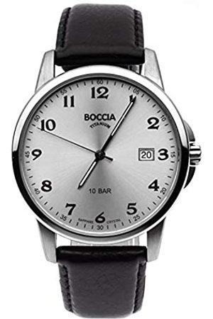 Boccia Boccia Herren Analog Quarz Uhr mit Leder Armband 3633-03