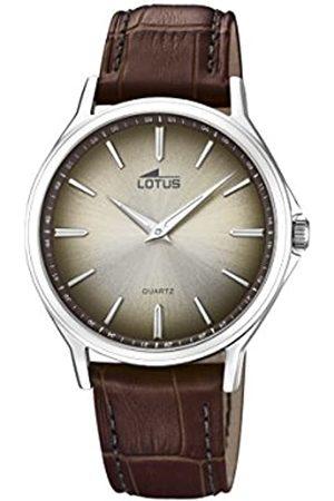 Lotus Lotus Watches Herren Datum klassisch Quarz Uhr mit Leder Armband 18516/3
