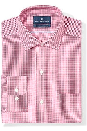 Buttoned Down Buttoned Down Classic Fit Spread Collar Pattern Smoking Hemd, burgundy small gingham