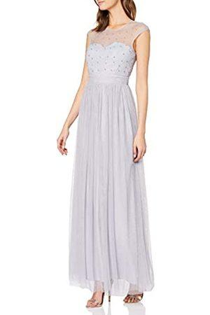 Little Mistress Damen Kleid Pearl Fabric Mesh Maxi