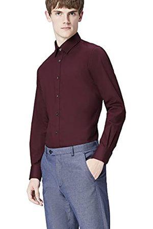 T-Shirts T-Shirts Herren Hemd mit spitzem Kragen