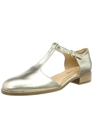 Clarks Clarks Damen Netley Fresh T-Spangen Sandalen, Silber (Champagne)