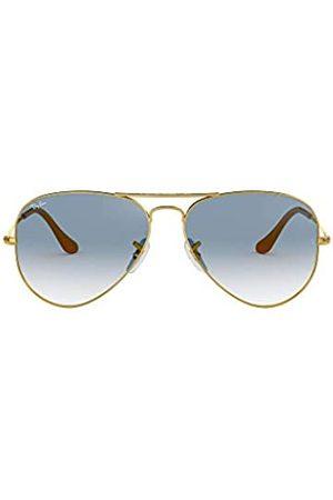 Ray-Ban Ray Ban Unisex Sonnenbrille Aviator Metal, Einfarbig, Gr. Large (Herstellergröße: 58)