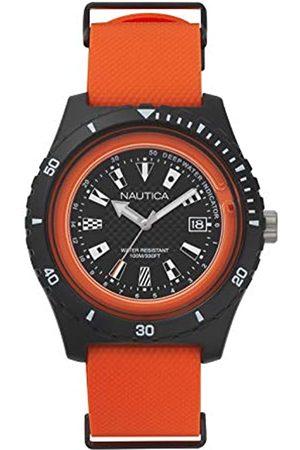 Nautica Nautica Herren Analog Quarz Uhr mit Silikon Armband NAPSRF003