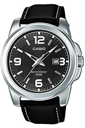 Casio Casio Herren Analog Quarz mit Leder Armbanduhr MTP1314PL8A