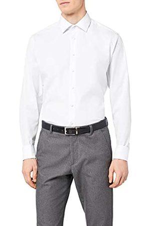 Seidensticker Herren Business Hemd Slim Fit – Bügelfreies, schmales Hemd mit Kent-Kragen – Langarm – 100% Baumwolle