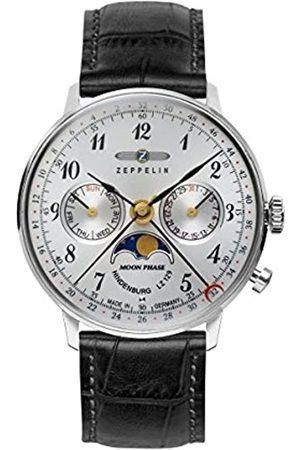 Zeppelin Zeppelin Unisex Chronograph Quarz Uhr mit Leder Armband 7037-1