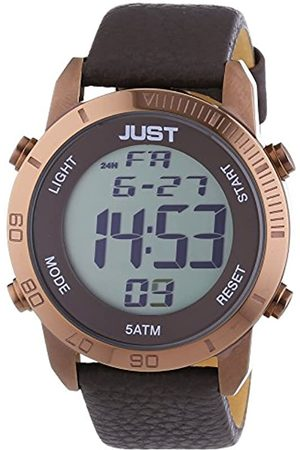 Just Watches Just Watches Herren-Armbanduhr XL Digital Quarz Leder 48-S10876-BR