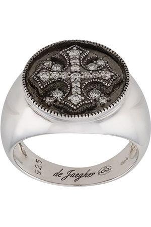 DE JAEGHER Ring mit Kristallkreuz