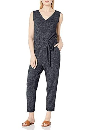 Daily Ritual Cozy Knit Sleeveless Tie-Waist jumpsuits-apparel