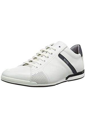 HUGO BOSS BOSS Herren Saturn_Lowp_Lux4 Sneaker, Weiß (White 100)