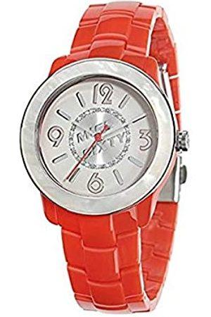 Miss Sixty Damen Analog Quarz Uhr mit Polyurethan Armband R0753122501_Rojo