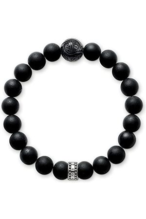 Thomas Sabo Thomas Sabo Damen-Armband Sterling Silber Rebel at heart matt-schwarze Obsidian Breite: 0