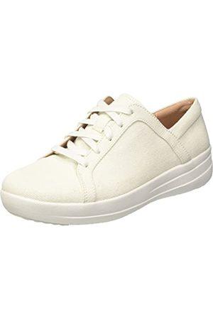 FitFlop Damen F-Sporty II Lace Up Sneaker, (White White Shimmer Denim 541)