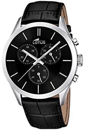 Lotus Lotus Herren Analoger Quarz Uhr mit Echtes Leder Armband 18119/2